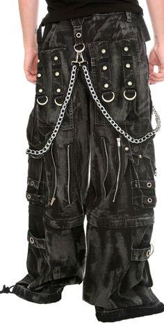 Tripp NYC Mechanic Wash Chain Pants With Zip Off Legs