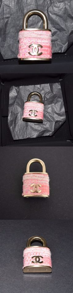Pins and Brooches 50677: Chanel Lock Brooch Pin Pink Tweed New $925 Celebrity Favorite! Must Have! -> BUY IT NOW ONLY: $695 on eBay!