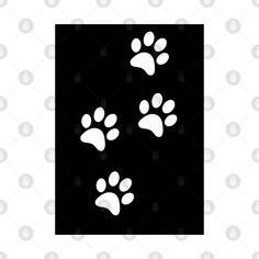 Check out this awesome 'White+Paw-prints+on+a+black+surface' design on @TeePublic! Paw Prints, Blue Butterfly, Surface Design, Awesome, Check, Stuff To Buy