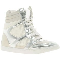 River Island Darice Wedge High Top Trainers ($64) ❤ liked on Polyvore #sergiorossinewyorktimes