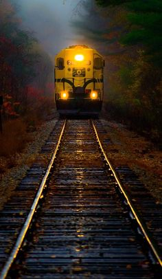 Train in rain.. White Mountains, New Hampshire, U.S | by Derek Kind