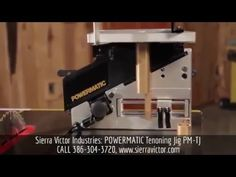 Available at Sierra Victor Industries: POWERMATIC® Tenoning Jig. MODEL PM-TJ. STOCK# 1799000. For more information or to order, CALL 386-304-3720, VISIT http://sierravictor.com/index.php?dis...