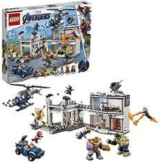 LEGO Marvel Super Heroes L'attaque du QG des Avengers Jeu de construction super-héros 8 Ans et Plus 699 Pièces  76131 Captain Marvel, Marvel Avengers, Captain America, Lego Marvel, Univers Marvel, Iron Man, Films Marvel, Construction Lego, Amazon