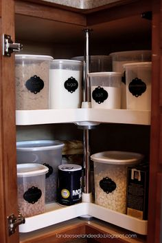 Lazy Susan in cabinet