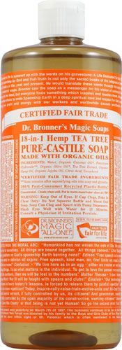 Dr. Bronner's Organic Pure Castile Soap Hemp Tea Tree- the best acne fighting item I have ever owned. Plus one bottle will last a year- maybe two!