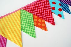 Thinking a rainbow bunting would look really cute in my kitchen to brighten things up.