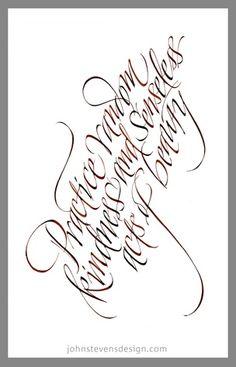 ✍ Sensual Calligraphy Scripts ✍  initials, typography styles and calligraphic art -  John Stevens - Workbook Illustration Portfolio