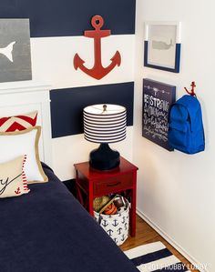 Nautical Bedroom gavin's nautical room | navy rug, navy and room