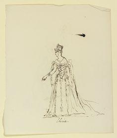 Sketch by Queen Victoria from her sketchbook.