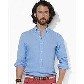 $125 Polo Ralph Lauren Custom-Fit Linen Shirt