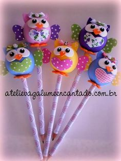 Foam Crafts, Diy And Crafts, Crafts For Kids, Clay Pen, Pen Toppers, Diy Upcycling, Clay Animals, Pasta Flexible, Polymer Clay Crafts