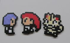 hama beads team rocket