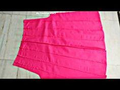Kalidar palazo cutting nd stitching, full tutorial Salwar Designs, Blouse Designs, Lehenga Pattern, Baby Girl Party Dresses, Kurta Neck Design, Sleeves Designs For Dresses, Dress Sewing Patterns, Pattern Sewing, Skirt Tutorial