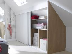 All time best Attic bedroom air conditioning,Attic bathroom ideas and Attic renovation bungalow. Attic Bedrooms, Upstairs Bedroom, Attic Bathroom, Attic Wardrobe, Attic Closet, Attic Office, Attic Playroom, Loft Storage, Bedroom Storage