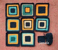 Čtverečky na deku Blanket, Crochet, Chrochet, Blankets, Crocheting, Carpet, Ganchillo