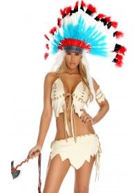 Sexy forpay womens native american skirt costume