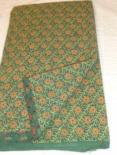 5yard block printed cotton fabric 100% natural sanganeri block printed fabric
