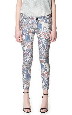 PRINTED TROUSERS - Trousers - Woman - ZARA Philippines