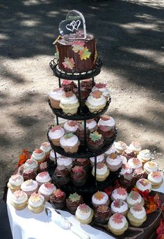 Fall Cupcakes Wedding Cake