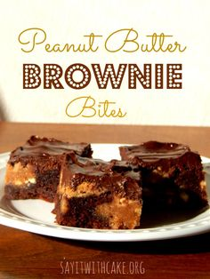 Chocolate Peanut butter Brownie Bites