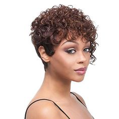 Aoert Synthetic Short Little Curly Wigs for Black Women Heat Resistant Brown Wig 10 Afro Kinky Curly >>> You can get more details by clicking on the image.(This is an Amazon affiliate link and I receive a commission for the sales)