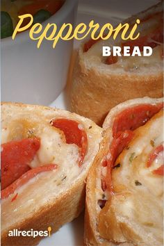 Pepperoni Bread, Pepperoni Recipes, Pepperoni Rolls, Snack Recipes, Cooking Recipes, Skillet Recipes, Cooking Tools, Pizza Recipes, Appetizer Recipes