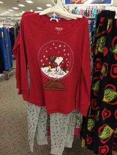 Ladies Christmas Pajamas Peanuts Target Snoopy 2015