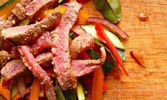 Leftover Thai-style roast beef salad