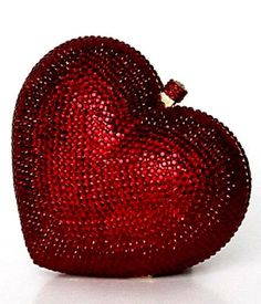 Women s Purses Lovely Red Crystal Heart Clutch Wedding Box Fashion Inspire Valentine Day Love, Valentines, Fashion Bags, Womens Fashion, Fashion Handbags, Wedding Boxes, Wedding Ideas, Beaded Purses, Red Hats