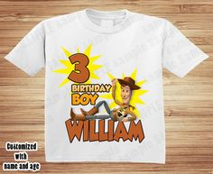 Toy Story Jessie Personalised Boys Girls T-Shirt Age 6 Ideal Gift//Present