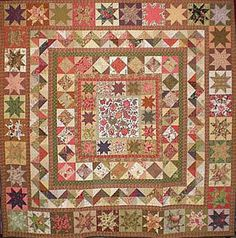 Civil War Quilts: Stars in a Time Warp 22: White Ground Chintzes