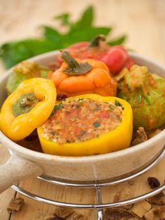 פלפלים+וקישואים+ממולאים Stuffed Peppers, Vegetables, Cooking, Food, Cuisine, Kitchen, Meal, Stuffed Pepper, Eten