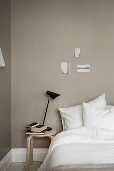 White floors and a beige wall - via cocolapinedesign.com