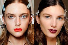 In & Out: las tendencias de belleza del 2014: Labios naranjas vs. Labios burgundy