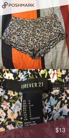 Floral Shorts Only worn once. In excellent condition. Looks really good on and the material is nice and light perfect for the summer Forever 21 Shorts