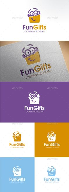 Funny Gift by Stilographic Fun smiling gift box character. Perfect for gift shops, delivery, children care, etc. Logo Design Template, Logo Templates, Corporate Design, Kids Branding, Branding Design, Gift Logo, Gift Vector, Company Gifts, Best Logo Design