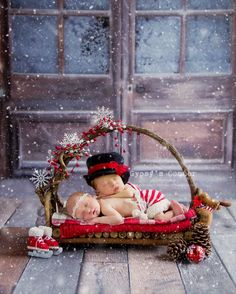 Image by Gypsy's Corner Photography LLC˙© 2015 Newborn Christmas Twins