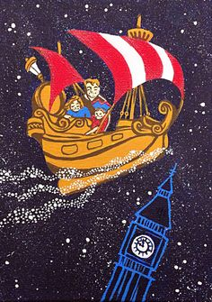 Peter Pan's Flight Painting Acrylic on Etsy Peter Pans Flight, Neverland Nursery, Disneyland Rides, Peter And Wendy, Peter Pan Disney, Captain Hook, Disney Art, Tinkerbell, How To Draw Hands