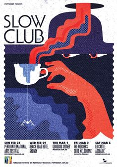 Slow Club 2012 Tour Poster Design and Illustration by WBYK