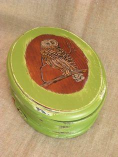 Upcycled Owl Keepsake Box