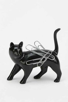 Cat Magnet - Urban Outfitters - I wonder if I could find a ceramic cat sculpture & some magnetic paint, if I could make this myself. Of course, I'd have to paint it to look like one of our cats though. Urban Outfitters, Crazy Cat Lady, Crazy Cats, I Love Cats, Cool Cats, Miaou Miaou, Objet Wtf, Gatos Cool, Cat Decor