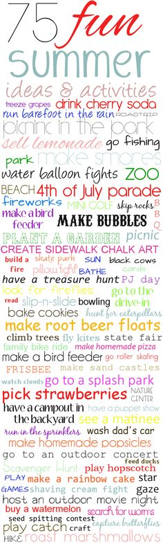 Tiaras & Tantrums - Blog - 75 FUN Things to Do This Summer
