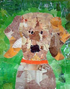 Magazine dog collage