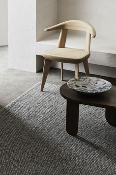 Pompeii Rug in Ore Styling: Joseph Gardner Photography: Sharyn Cairns Composition Design, Armadillo, Creative Outlet, Pompeii, Charcoal Color, Wool Felt, Felted Wool, Classic Collection, Wishbone Chair