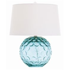 Caprice Aqua Glass Lamp