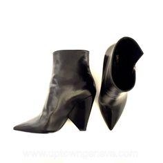1a16ba7ae742 Saint Laurent Niki black ankle boots - Downtown Uptown Genève
