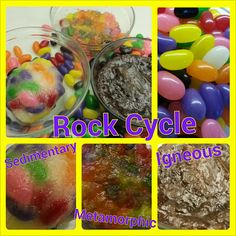 Teach the rock cycle using jelly beans!  Download the lesson materials and more here https://drive.google.com/folderview?id=0Bzusr5fxwW-TY3gtZGNxOWtYM0k&usp=sharing