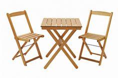 Kit Naipe (1 mesa dobrável Vik 60 + 2 cadeiras dobráveis bar) - Stain Jatobá - HarpiaCasa