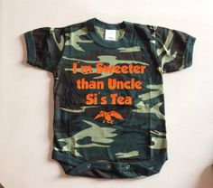 Duck Dynasty baby onesie camo onesie sweeter by JessieAnnCreations, $15.00