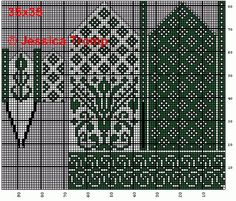 View album on Yandex. Knitting Charts, Knitting Stitches, Knitting Socks, Knitting Needles, Hand Knitting, Knitting Patterns, Knitted Mittens Pattern, Crochet Mittens, Knitted Gloves